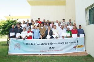 23 cadres nationaux bénéficiaires d'un stage IAAF à Rabat