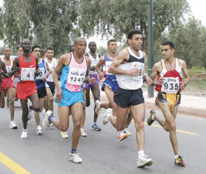 6000 marathoniens à Marrakech