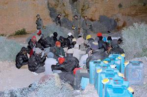 Nador : Arrestation d'un groupe de candidats à l'émigration clandestine