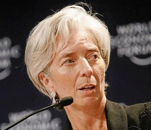 Christine Lagarde dans le vif du sujet dès son arrivée au FMI