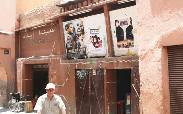 Le cinéma Eden, construit en 1926 à Marrakech, sur le point de disparaître
