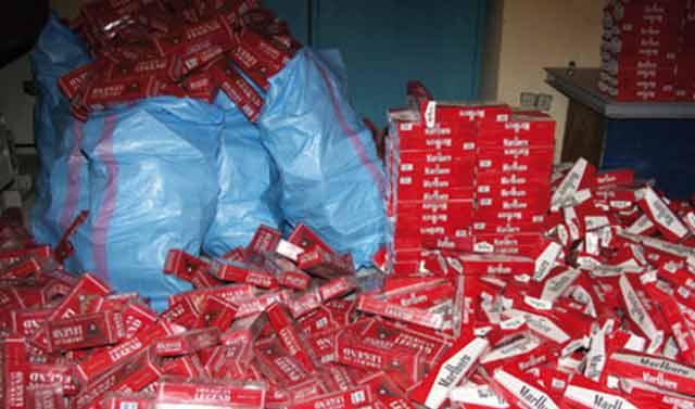 Saisie à Oujda de 47.480 paquets de cigarettes de contrebande