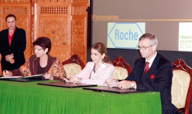 Fondation Lalla Salma-Laboratoire Roche : Reconduction du protocole contre le cancer