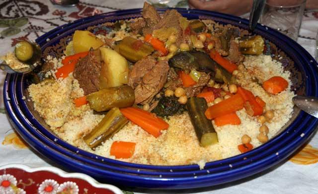 Berrechid : Du haschich dans  un plat de couscous