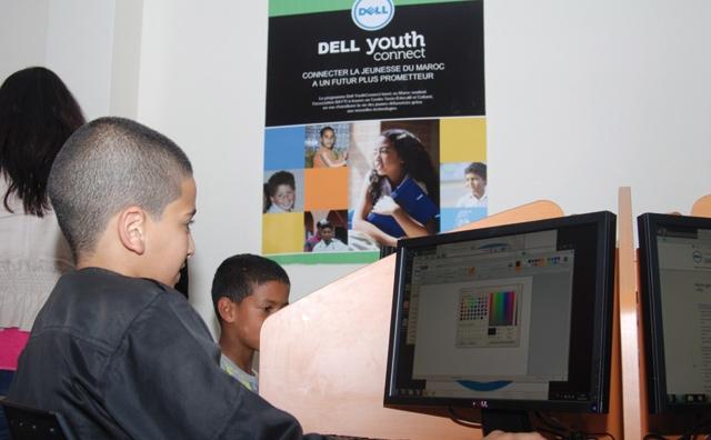 Dell inaugure la salle informatique du centre de l association Bayti à Aïn Chock
