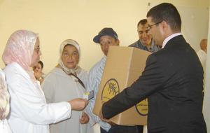 Vaste opération de distribution du panier de Ramadan