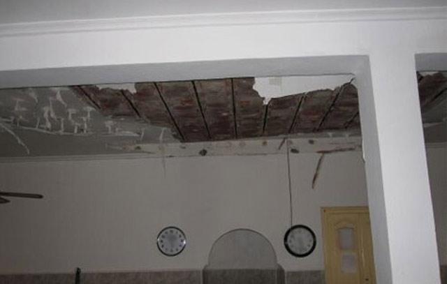 Effondrement partiel du toit d'une mosquée à Tanger