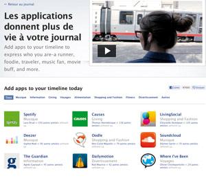 60 nouvelles applications pour partager vos activités sur Facebook