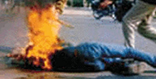 Beni Mellal : Tentative de parricide  par le feu