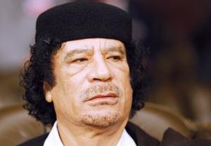 Mouammar  Kadhafi reçoit des Arabes israéliens