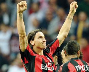 Calcio : l'AC Milan s'impose grâce à Ibrahimovic