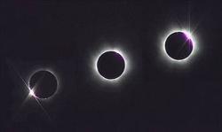 Une éclipse solaire bien visible