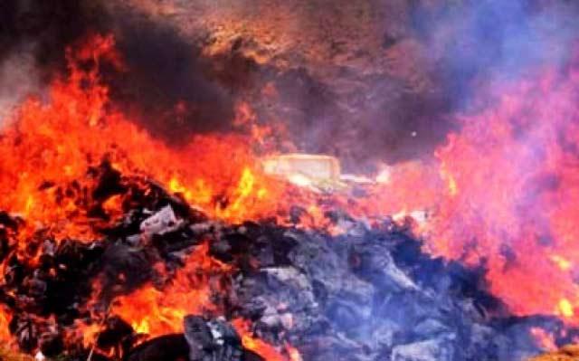 Destruction par incinération de 860 kg de produits stupéfiants et psychotrope à Essaouira