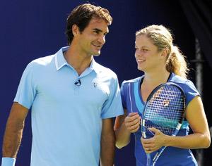 Clijsters et Federer, les N°2 mondiaux avancent