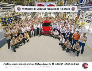 Fiat au Brésil : 10 millions de véhicules déjà produits