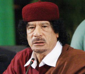 Kadhafi s'insurge contre l'UPM de Nicolas Sarkozy