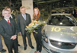 Opel produit sa 10 millionième Corsa