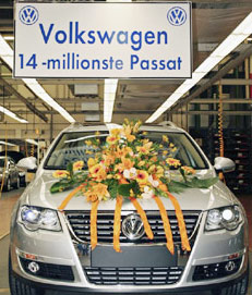 Automobile : Volkswagen : Production de la 14 millionième Passat