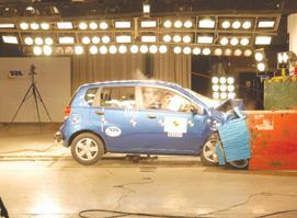 Automobile : Chevrolet Kalos : échec aux tests de l'EuroNCAP