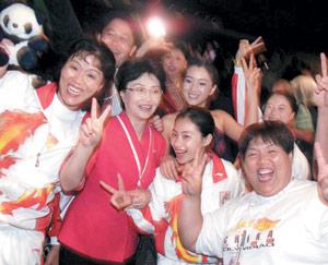 JO-2008 : La longue marche des supporteurs en formation