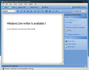 High-tech : Microsoft lance Live Writer