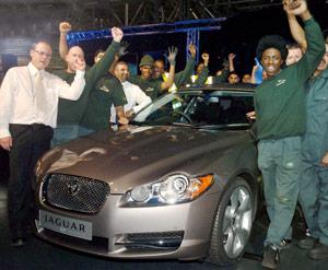 Jaguar XF : Baptême d'usine
