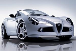 Alfa Romeo 8C Spider : L'une des divas du salon genevois