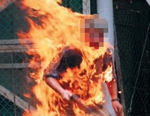 Il tente de se suicider en s'immolant devant la maison de son ex-femme