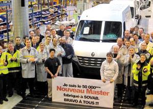 Renault Master : La 50.000ème production