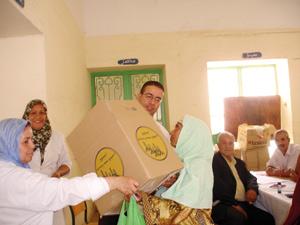 Oujda : Opération de distribution de denrées alimentaires