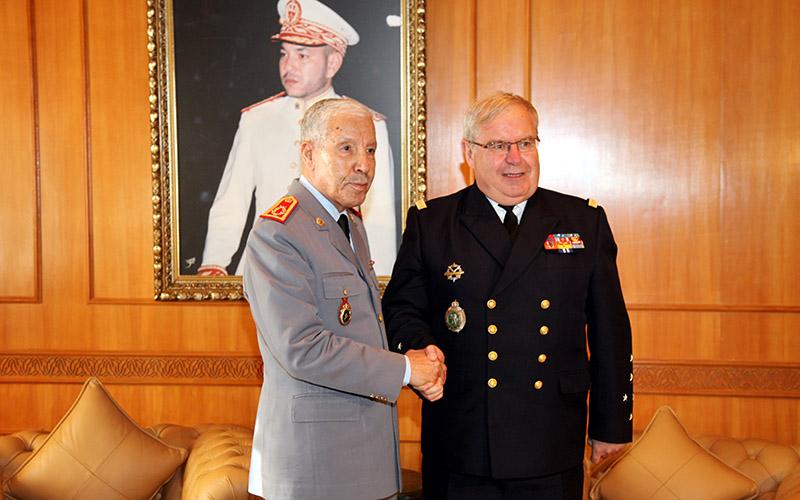 Le général Aroub reçoit le chef d'Etat-Major général de la Marine française