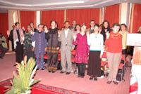 Les volontaires de la paix en action