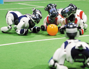Mondial de football : les robots débarquent