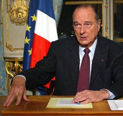 CPE : Chirac refile le dossier à Sarkozy