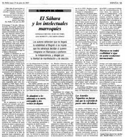 Le Sahara et les intellectuels marocains