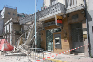 Effondrement d'un immeuble à Mers Sultan