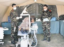 Les militaires à Tan-Tan