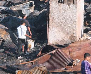 Incendie : 47 baraques détruites à Hay Mohammadi