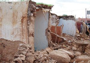Intempéries à Agadir : 123 maisons en pisé effondrées et plus de 31 familles sans abris