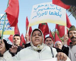 Les Marocains expulsés d'Algérie protestent