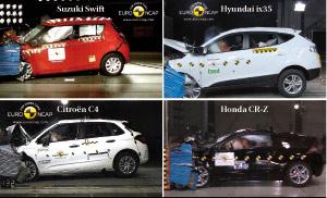 Crash-tests Euro NCAP : quatre nouveautés toutes couronnées 5 étoiles