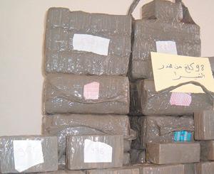 Plus de 268 kg de chira saisis en un jour