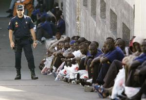 L'écroulement de l'enclave de Mellilia provoque un afflux massif des Subsahariens