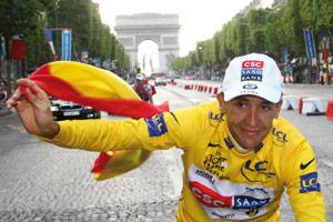 Cyclisme : Carlos Sastre vainqueur du Tour de France