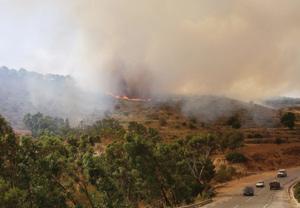 Al Hoceima : Poursuite des efforts pour circonscrire le feu ayant ravagé plusieurs hectares