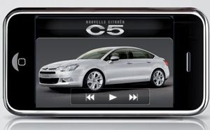 Nouvelle Citroën C5 : Touchez-la sur l'iPhone