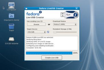Créez votre propre clé USB bootable intégrant Fedora !