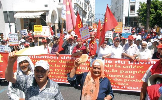 Dans la marche de la colère organisée par l ODT