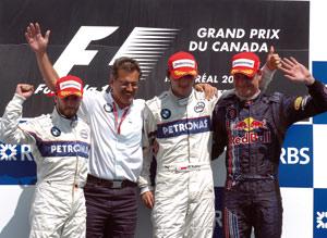 Grand Prix du Canada : Victoire pour Kubica, doublé pour BMW