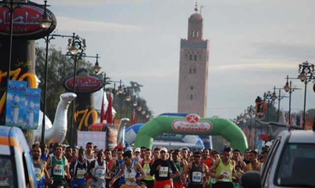Course internationale de Marrakech (10 km): participation d'environ 2.000 athlètes à la 3è édition